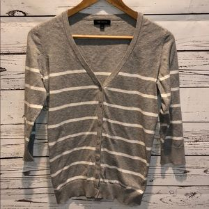 The Limited Grey & White Cardigan Size Xl
